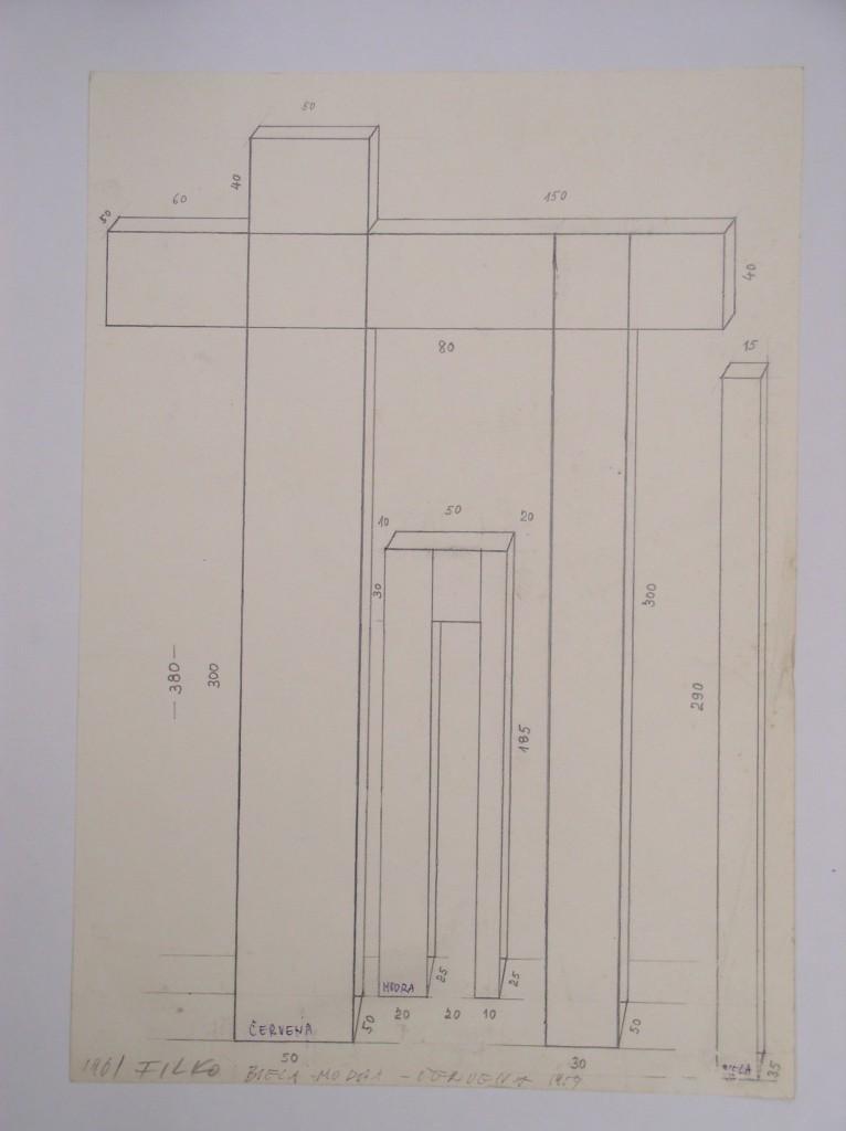 Stano Filko, projekt na papieri, okolo roku 1967 (Foto: Zbierka Linea)