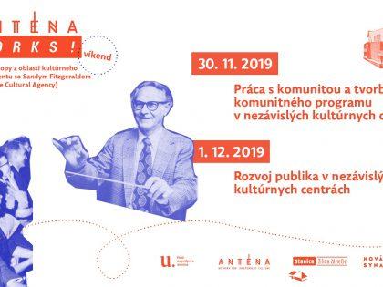 Anténa works: workshopy a tréningy pre kultúrne inštitúcie